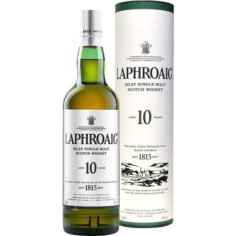 laphroaig laphroaig single malt scotch whisky 10 anni 70 cl in astuccio