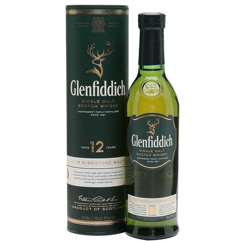 glenfiddich glenfiddich 12 anni single malt scotch whisky 70 cl in astuccio