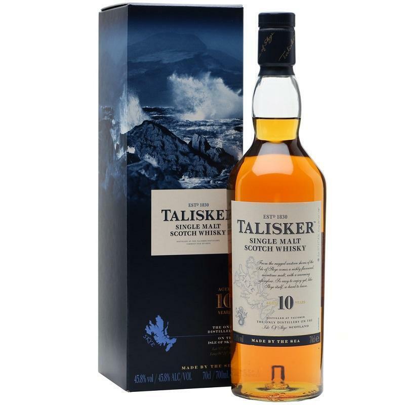 talisker talisker single malt scotch whisky 10 anni in astuccio
