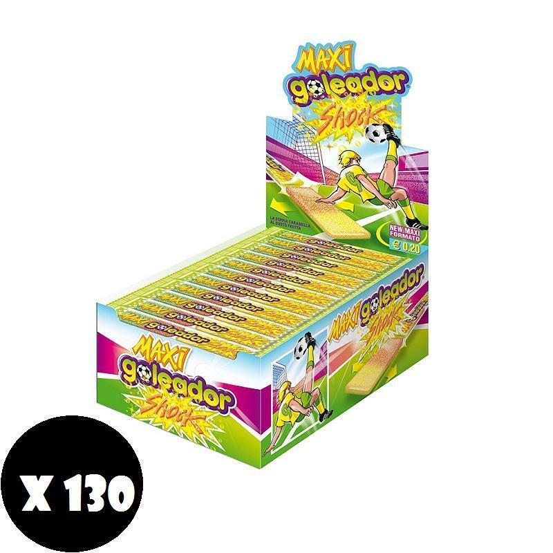 goleador goleador maxi shock caramelle gommose 130 pz