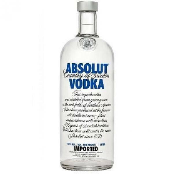 absolut absolut vodka classica 1 litro