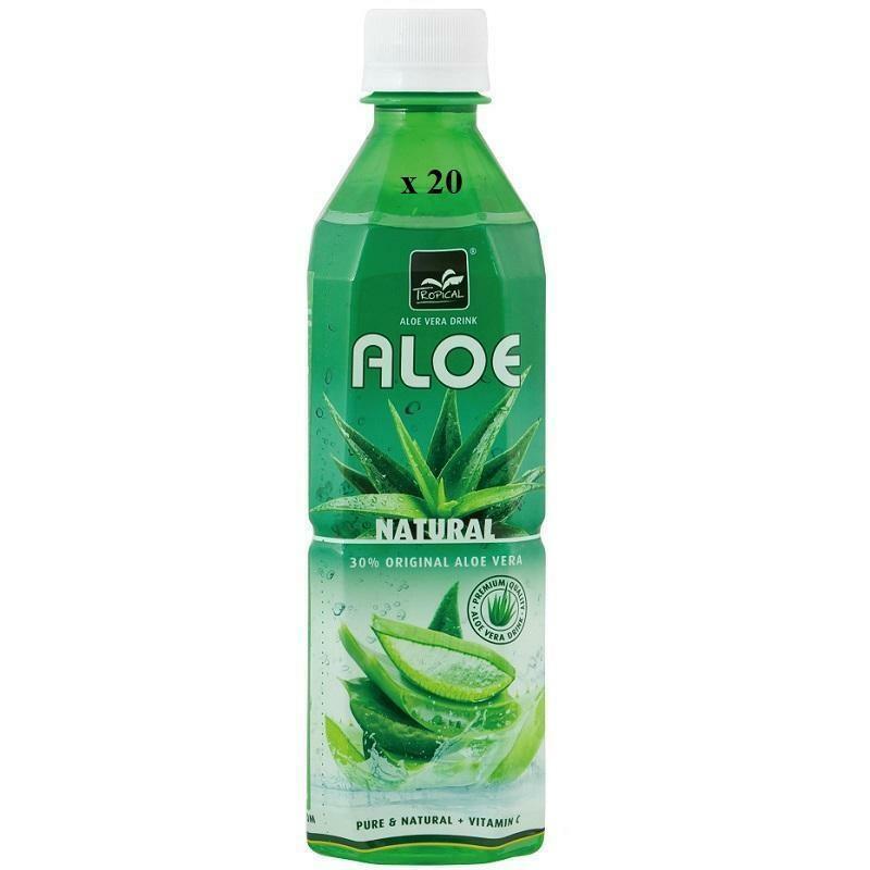 tropical tropical aloe vera natural con vitamina c confezione da 20 bottigliette