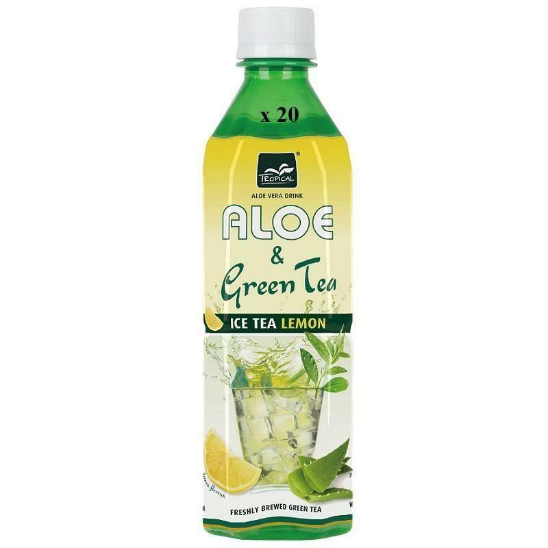 tropical tropical aloe vera & green tea lemon  confezione da 20 bottiliette
