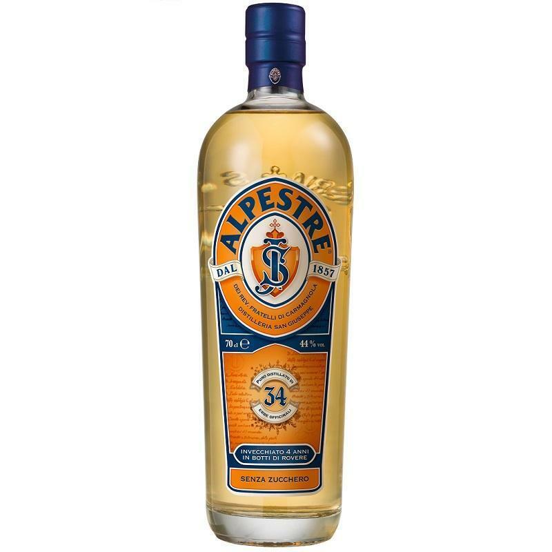 alpestre alpestre puro distillato di  34 erbe officinali senza zucchero 70 cl