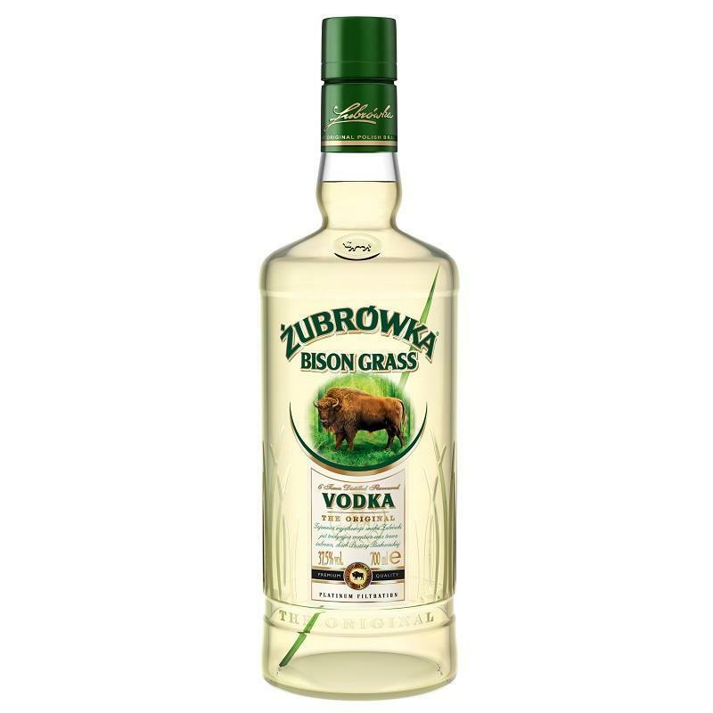 zubrowka zubrowka bison grass flavoured vodka the otiginal 1 litro