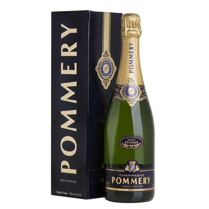 pommery pommery champagne brut apanage 75 cl in astuccio
