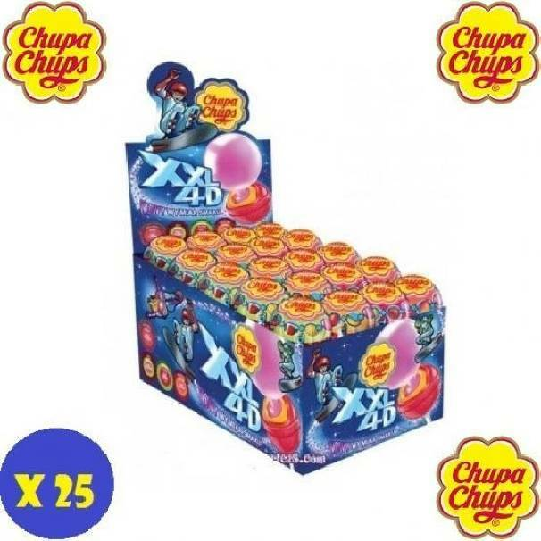 chupa chups chupa chups xxl 4d gusti assortiti 25 pezzi