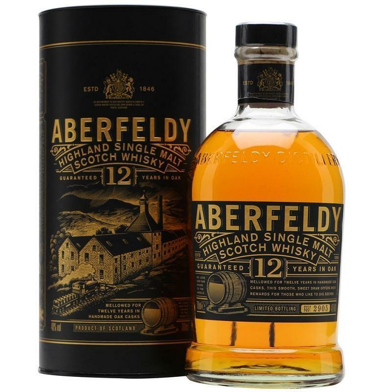aberfeldy aberfeldy whisky 12 years highland single malt scotch whisky 70 cl in astuccio