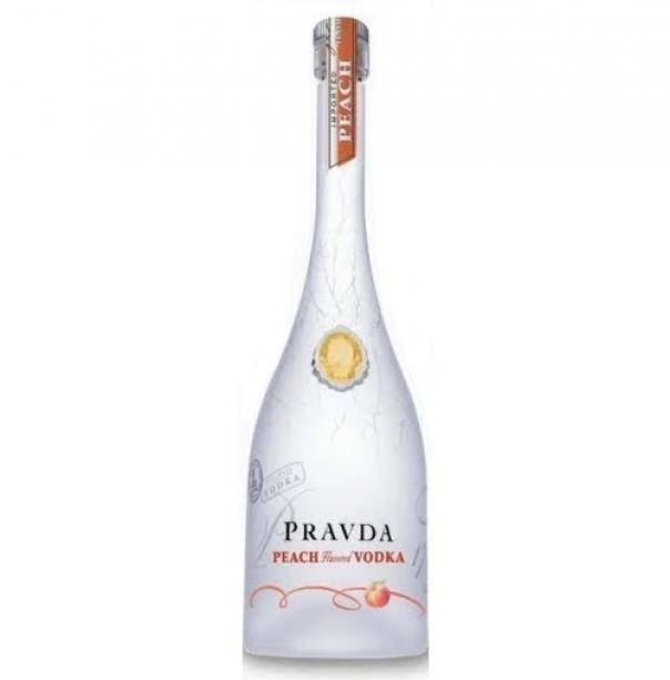 pravda pravda vodka peach flavored 70 cl