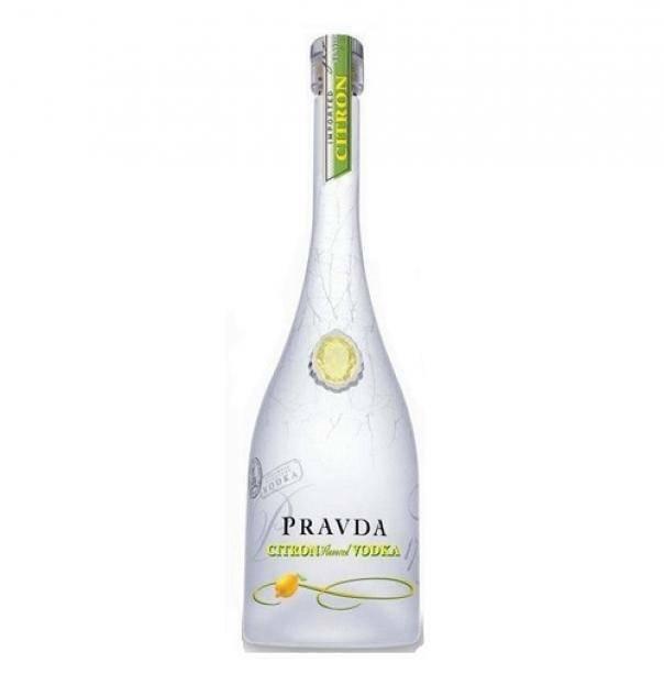 pravda pravda vodka citron flavored 70 cl