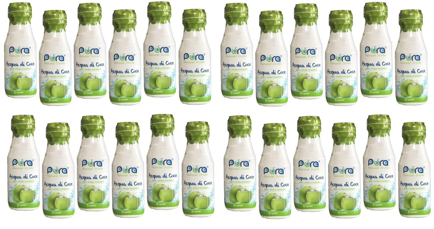 pura pura acqua di cocco 100% 24 bottigliette da 280 ml
