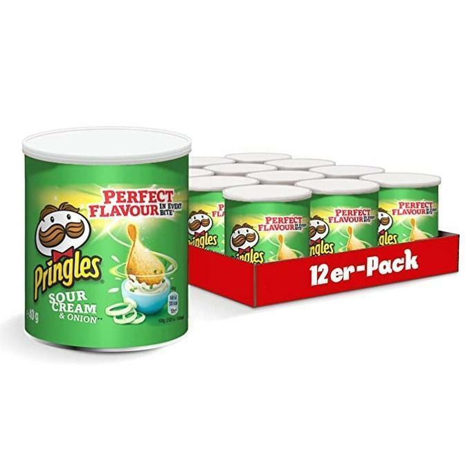 pringles pringles small sour cream & onion 40g x 12 confezioni
