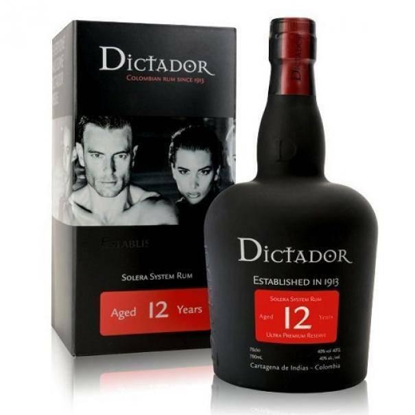dictador dictador 12 colombian rum solera system 70 cl in astuccio