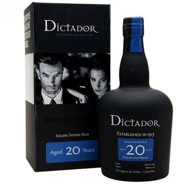 dictador dictador 20 colombian rum solera system 70 cl in astuccio