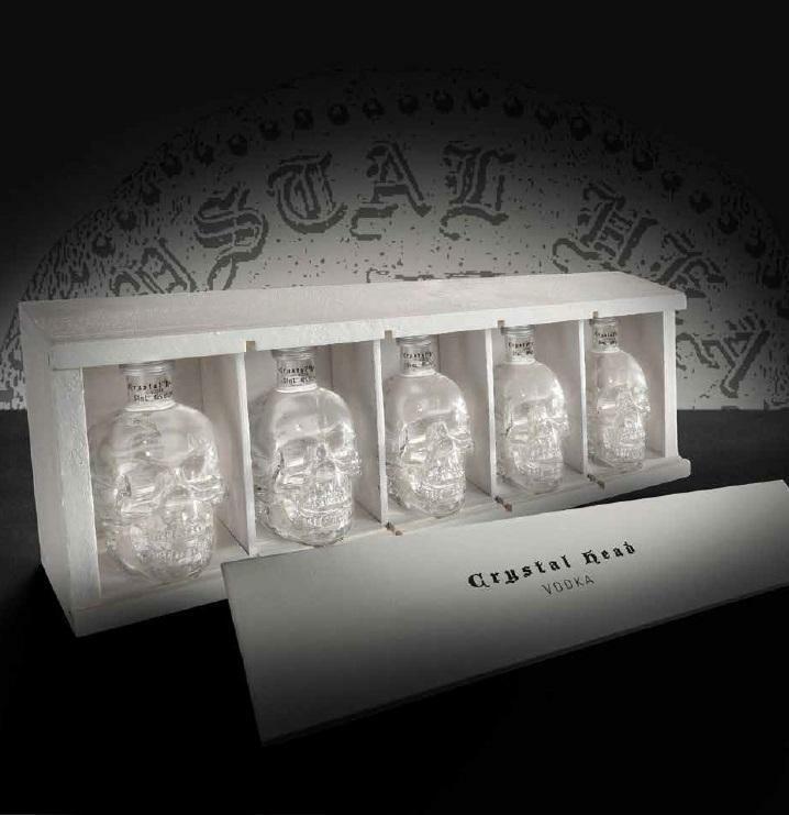 crystal head crystal head in cofanetto regalo five little heads
