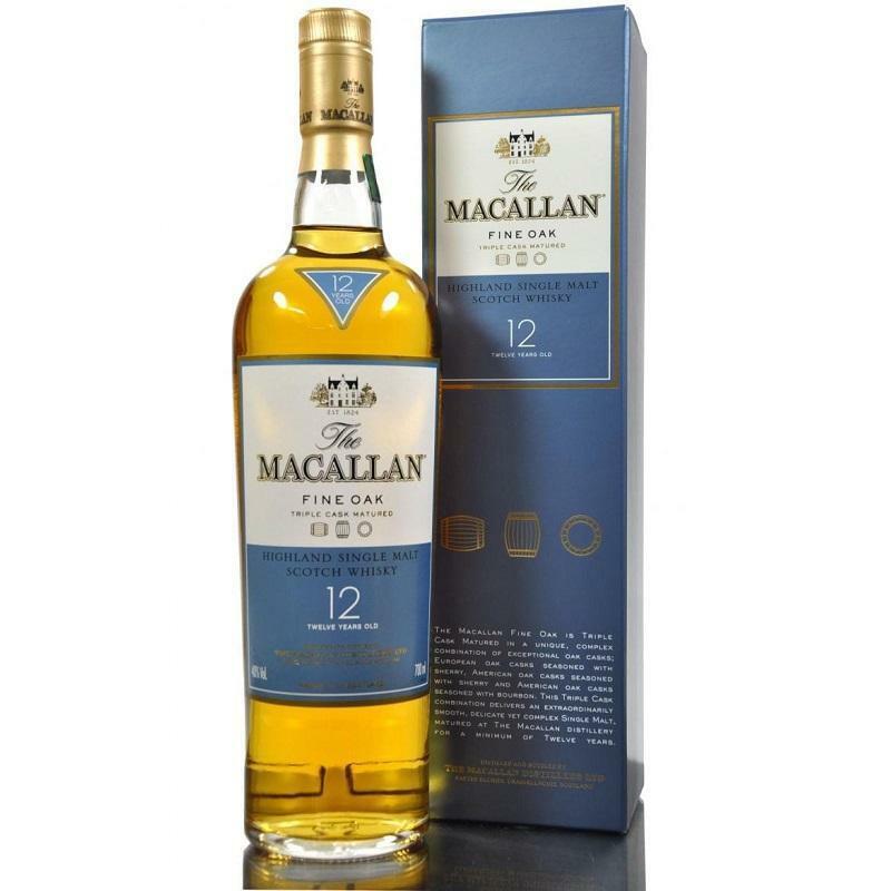the macallan the macallan single malt scotch whisky fine oak 12 anni 70 cl in astuccio