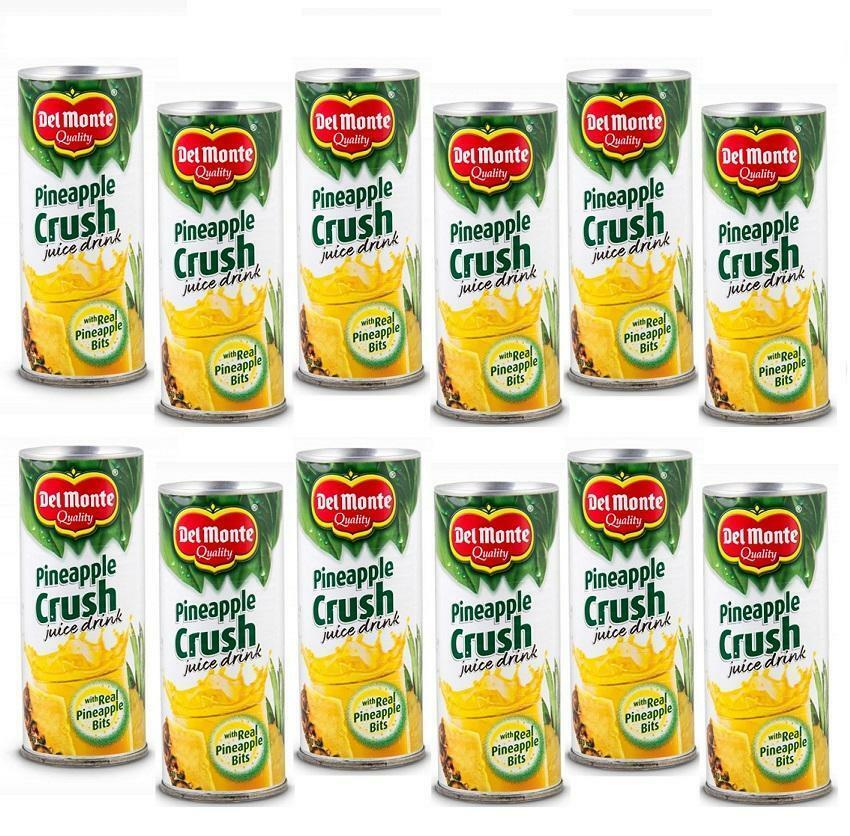 del monte del monte crush 240 ml pineapple juice ananas a pezzi (12 pz)