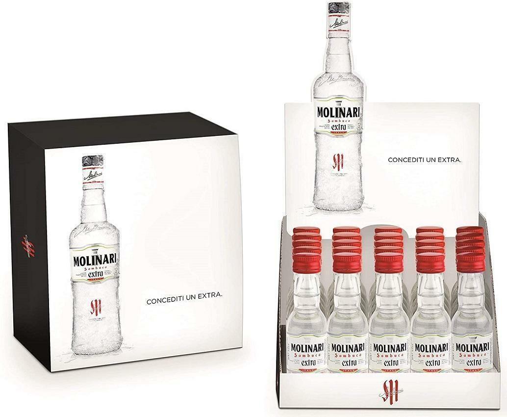 molinari molinari 25 bottigliette mignon miniature 3 cl