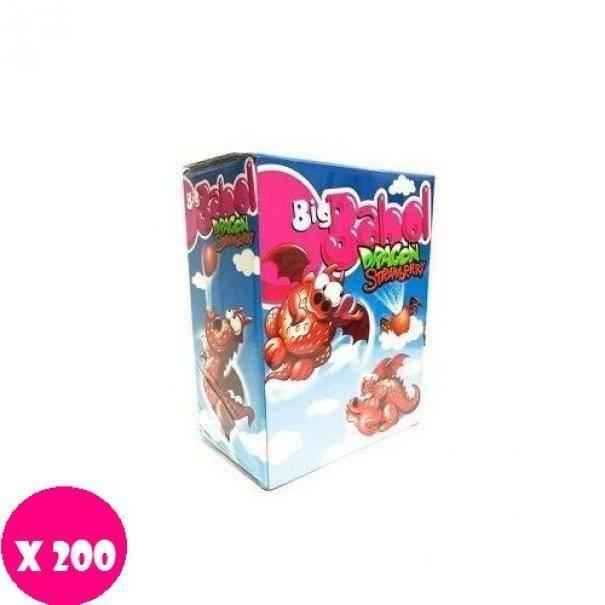 big babol big babol dragon strawberry fragola x 200 pz