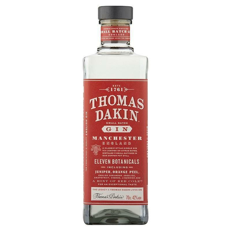 thomas dakin thomas dakin small batch gin manchester england 70 cl