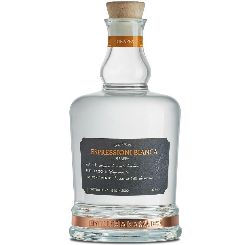 marzadro marzadro grappa espressioni bianca 70 cl (in astuccio)