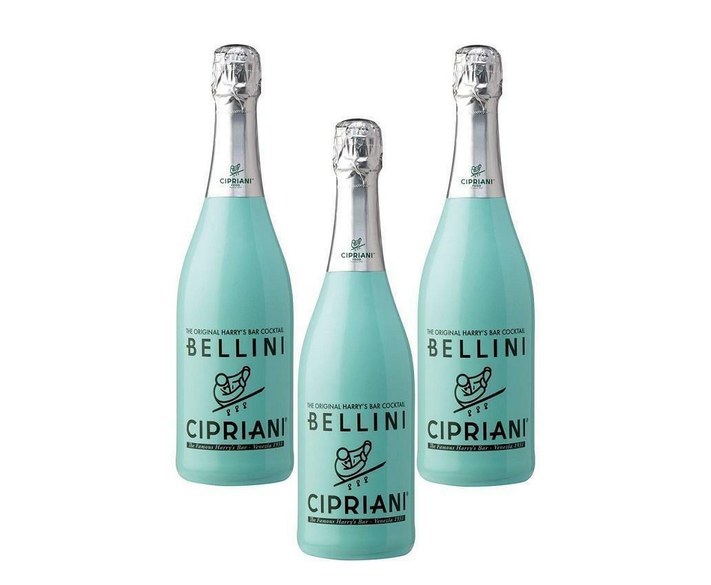cipriani cipriani bellini the original harry's bar cocktail 75cl 3 bottiglie
