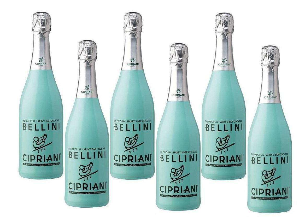 cipriani cipriani bellini the original harry's bar cocktail 75cl 6 bottiglie