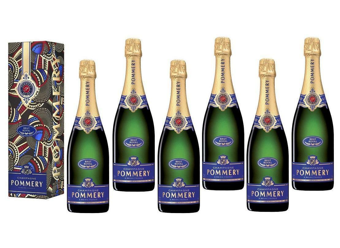pommery pommery champagne royal brut 75 cl in astuccio 6 bottiglie