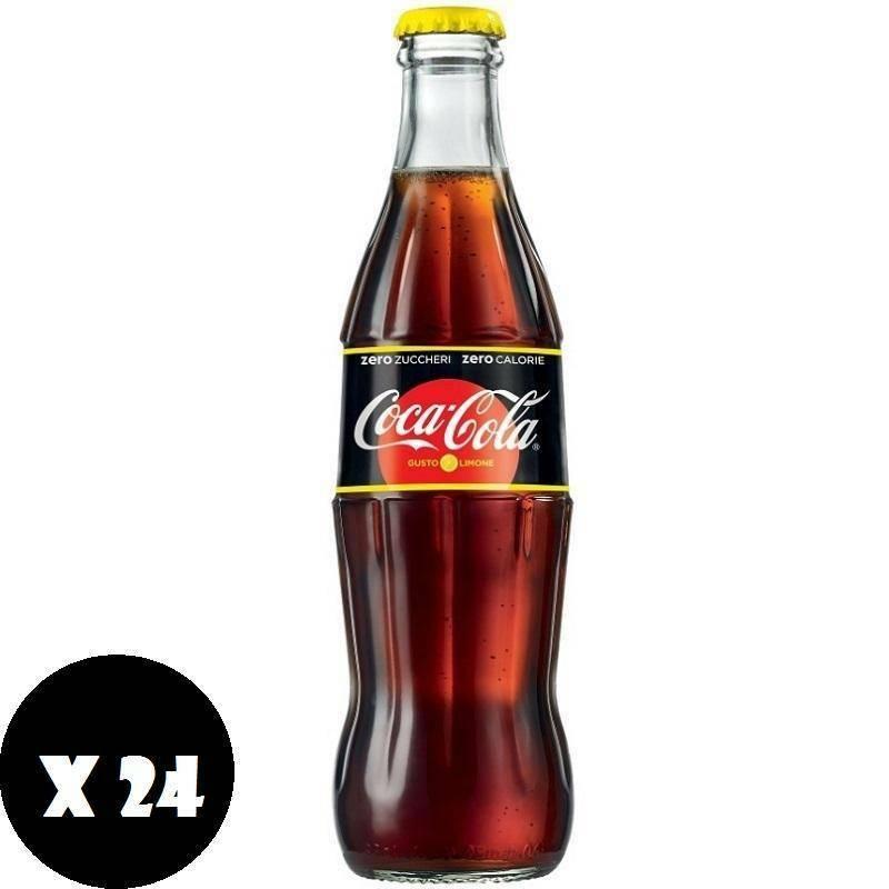 coca cola coca cola limone zero zuccheri zero calorie vetro 33 cl