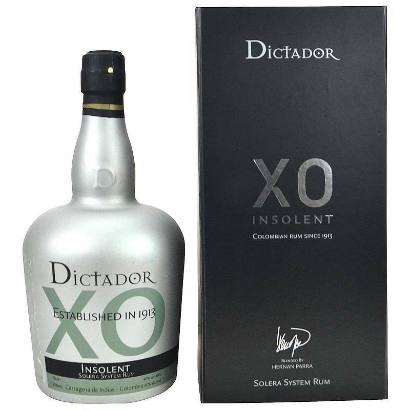 dictador dictador xo insolent solera system rum 70 cl in astuccio