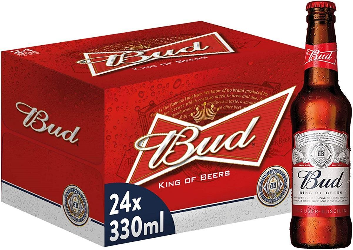 bud bud birra king of beer 33 cl (24pz)
