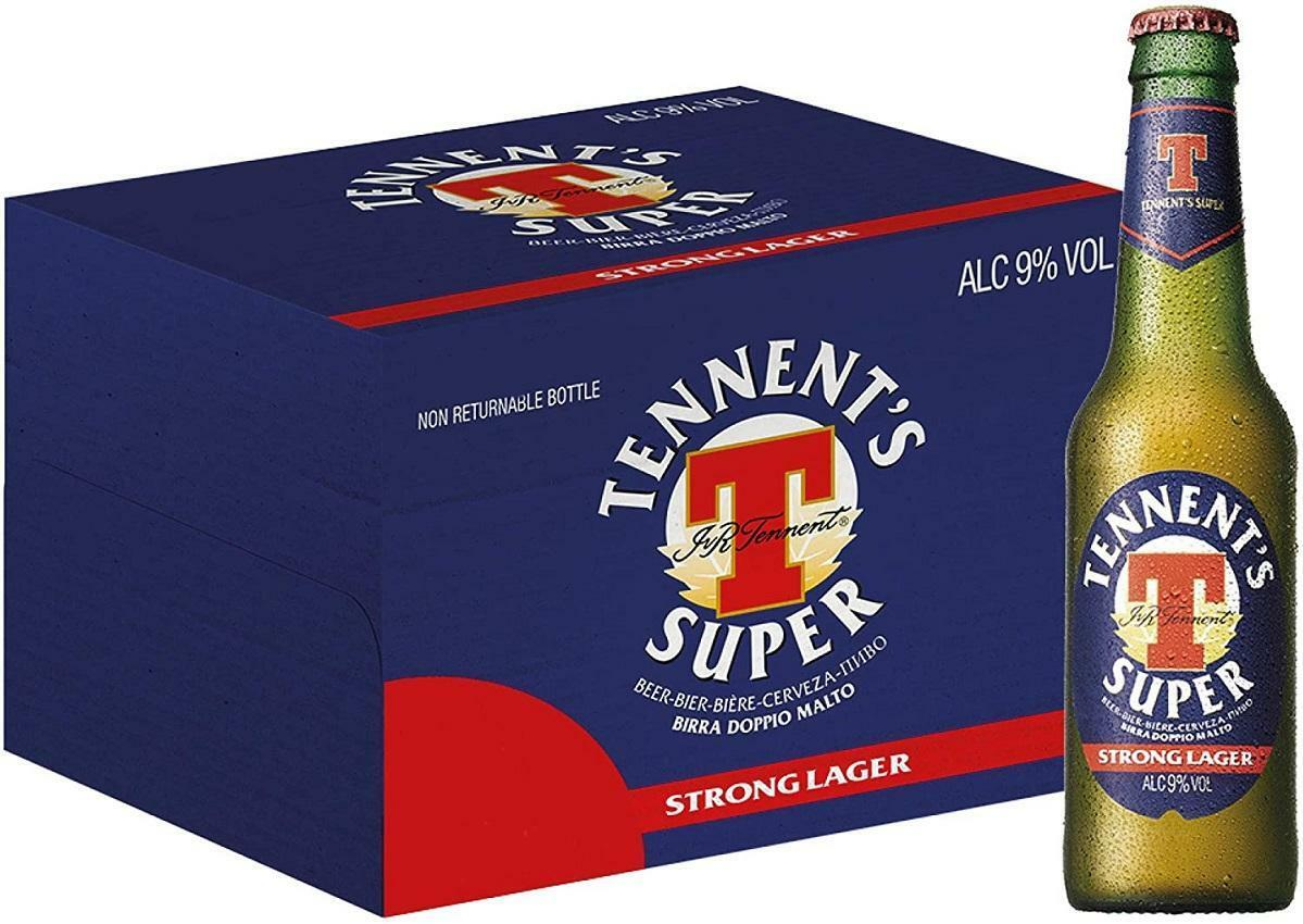 tennent's tennent's birra super strong lager 33 cl 24pz