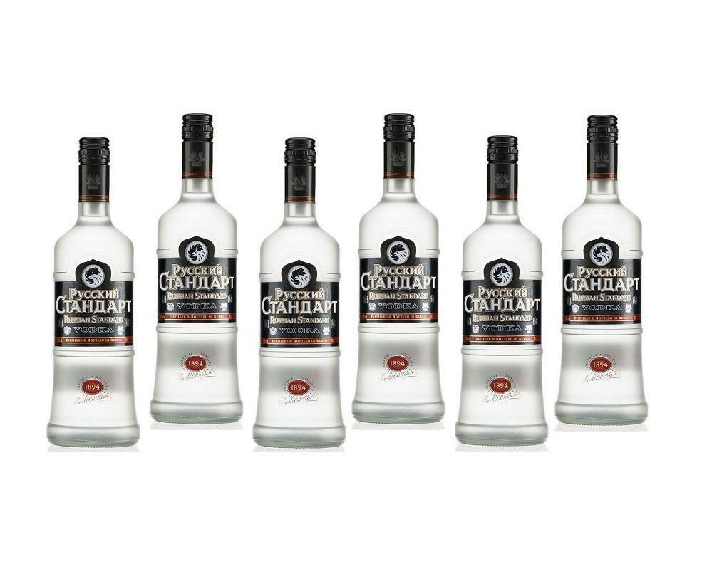 russian standard russian standard vodka 1 litro 6 bottiglie