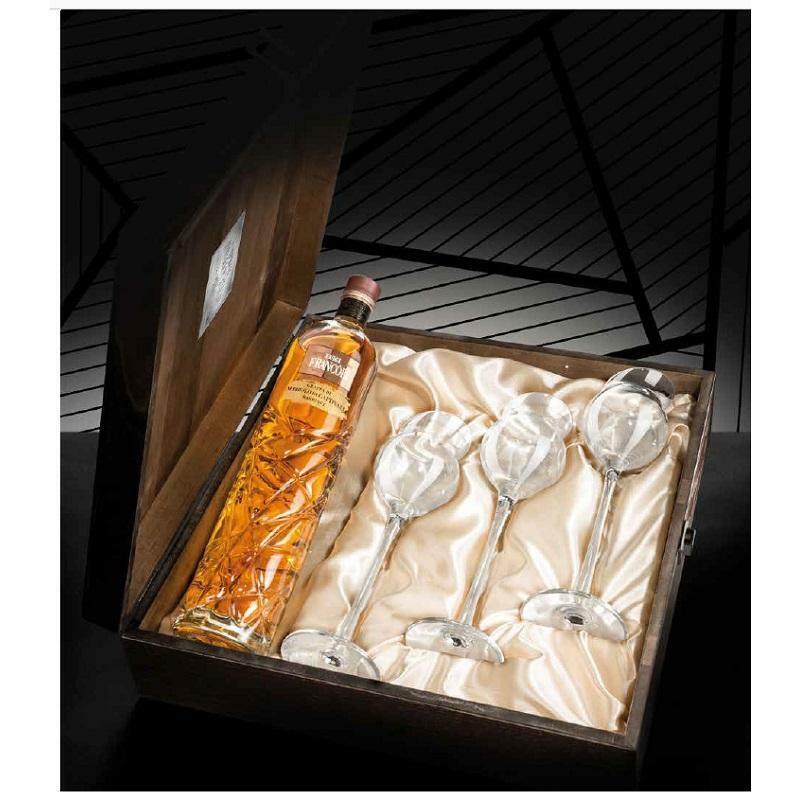 luigi francoli luigi francoli tre sorsi al palato grappa nebbiolo da gattinara confezione in legno regalo
