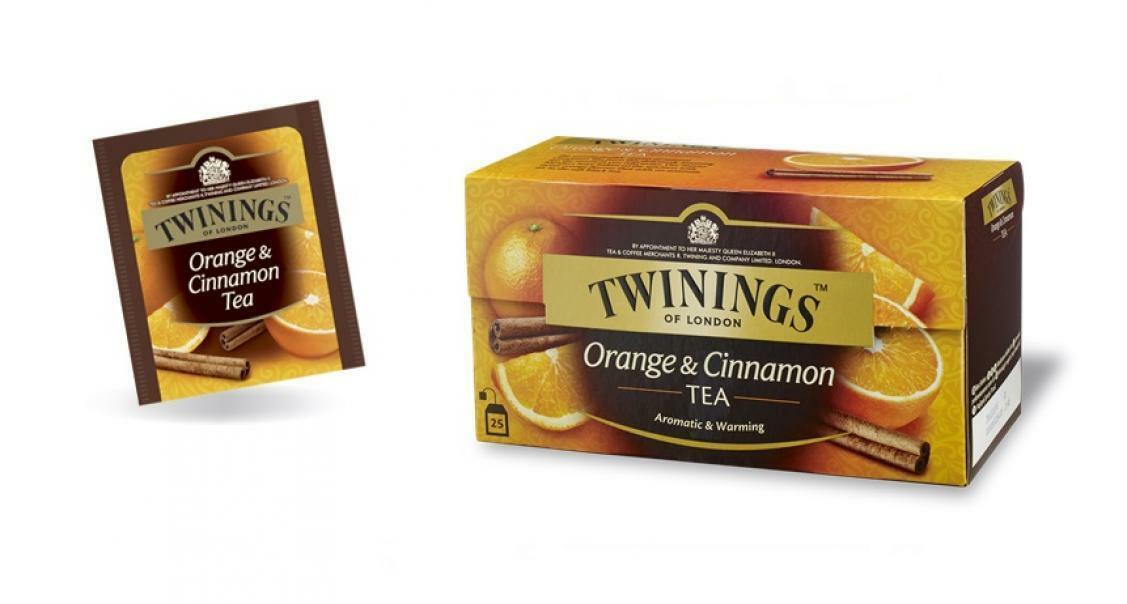 twinings twinings orange & cinnamon tea 25 filtri