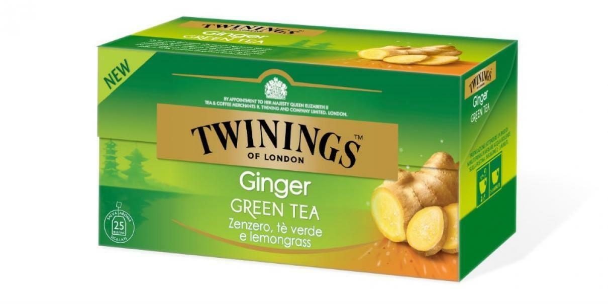 twinings twinings ginger green tea zenzero te verde e lemongrass 25 filtri