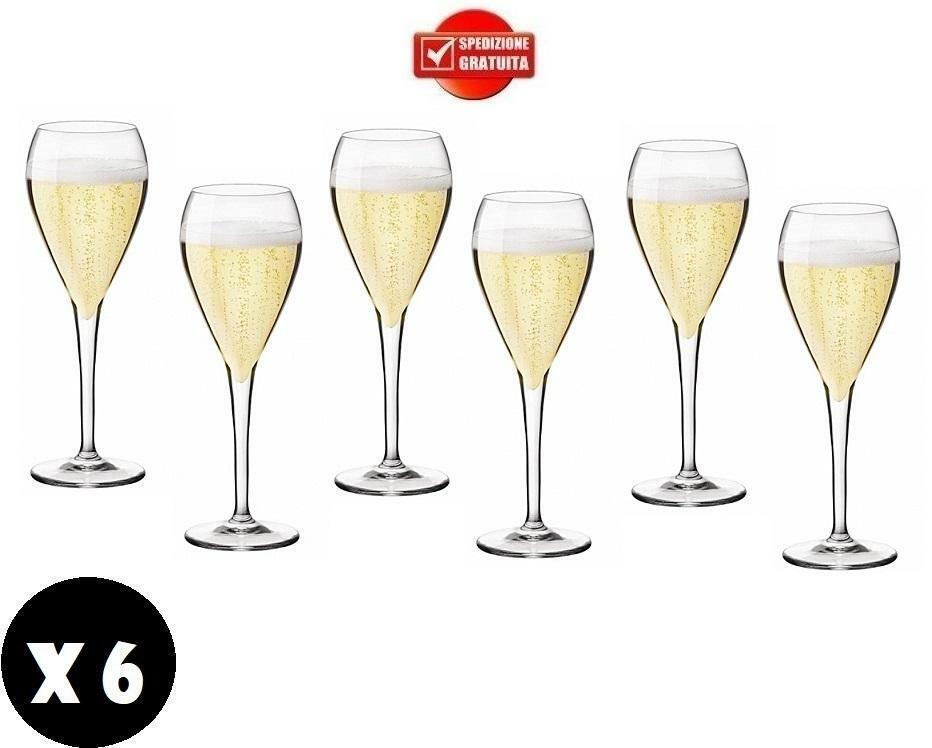 gold plast gold plast bicchieri per bollicine perlage 240 cc in plastica anti opaca anti rottura 6 pz