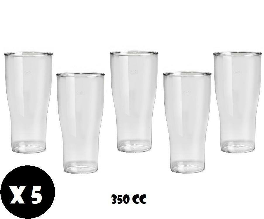 gold plast gold plast bicchiere birra in plastica anti opaca anti rottura 350 cc 5pz