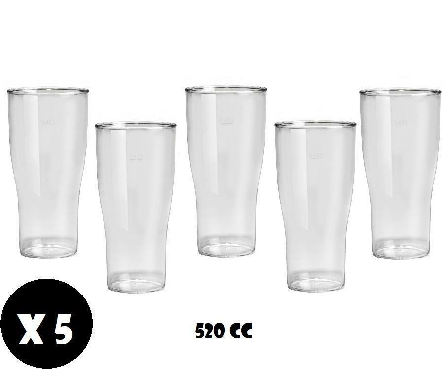 gold plast gold plast bicchiere birra in plastica anti opaca anti rottura 520 cc 5pz