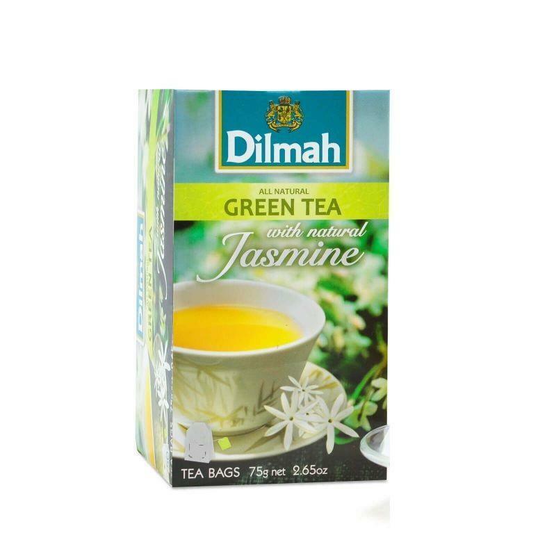dilmah dilmah green tea with natural jasmine all natural 20 pz