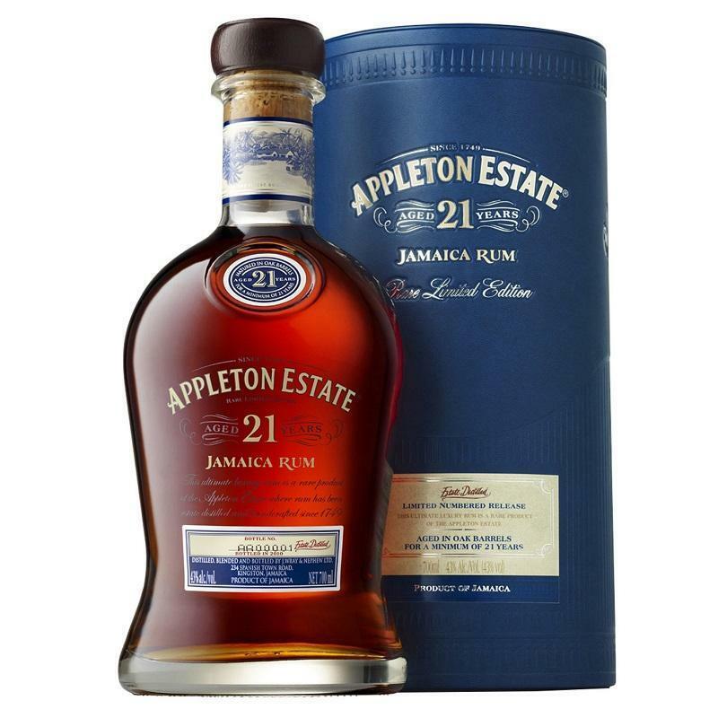 appleton estate appleton estate jamaica rum aged 21 years rare limited edition 70 cl in astuccio
