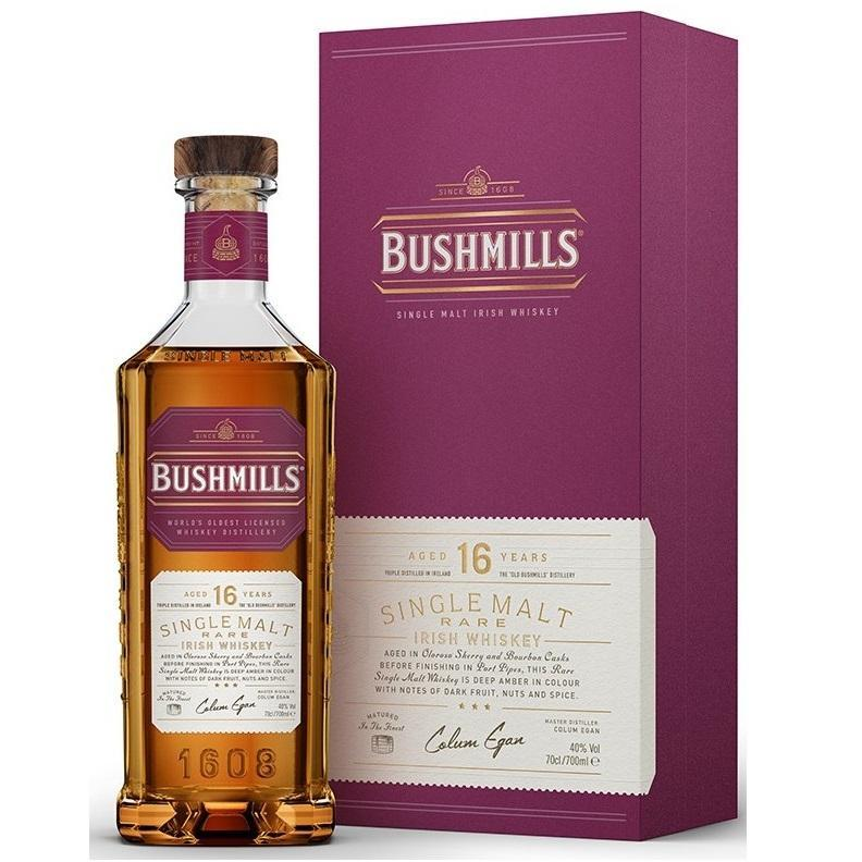 bushmills bushmills irish whisky aged 16 years rare 70 cl in astuccio