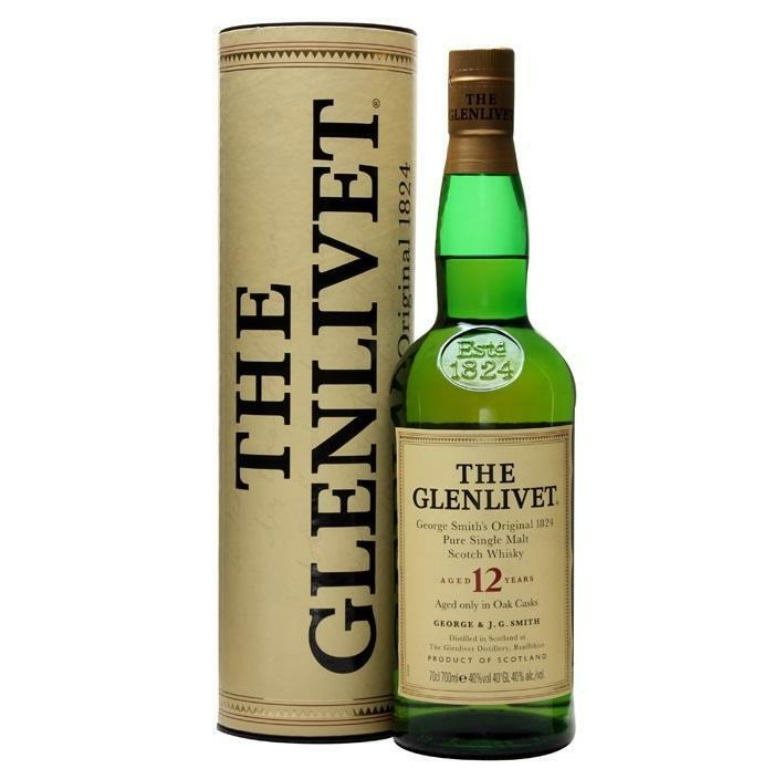 the glenlivet the glenlivet pure single malt scotch whisky aged 12 years 70 cl george smith's original