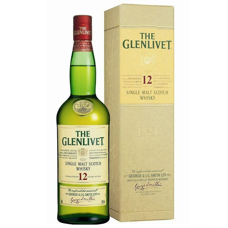 the glenlivet the glenlivet pure single malt scotch whisky 12 years 70 cl george smith's