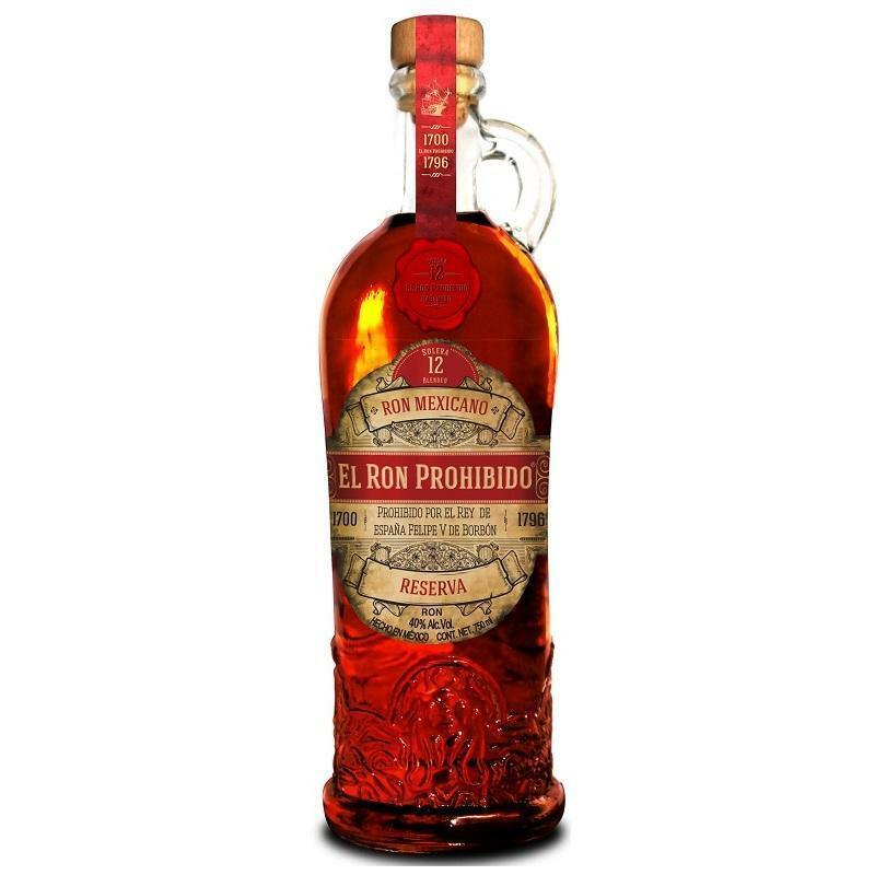 el ron prohibido el ron prohibido mexican rum 12 reserva  70 cl