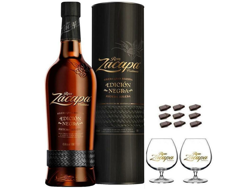 zacapa rum zacapa centenario 23 ediction negra70cl in astuccio con 2 balloon zacapa