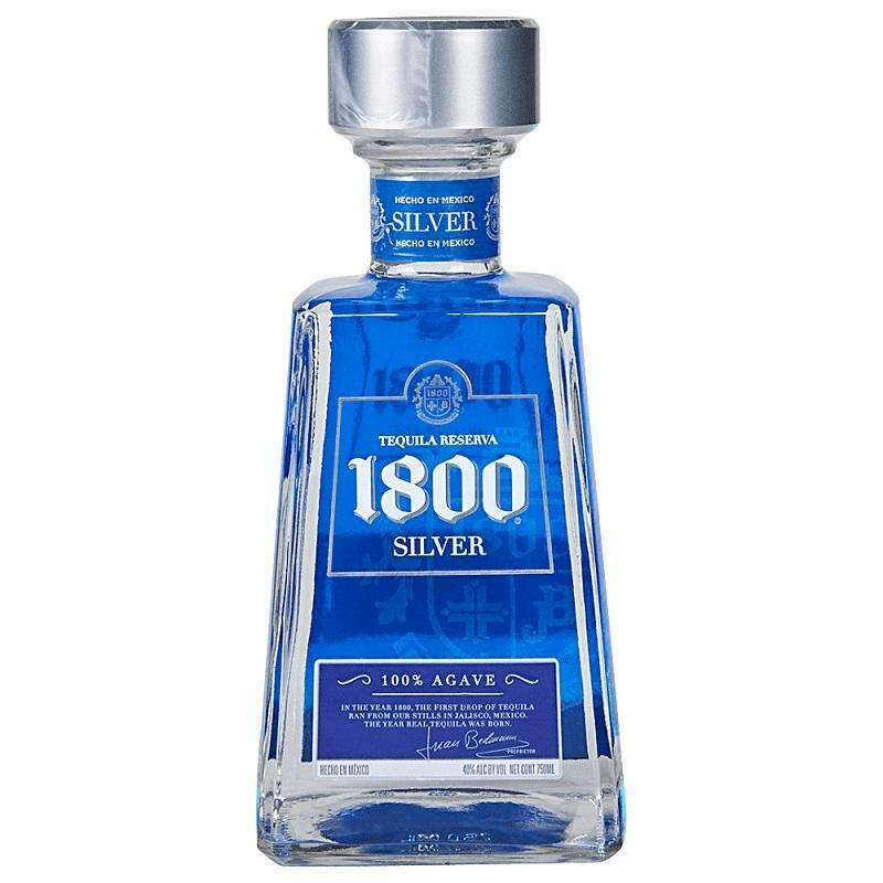 jose cuervo jose cuervo tequila reserva 1800 silver 100% agave 70 cl