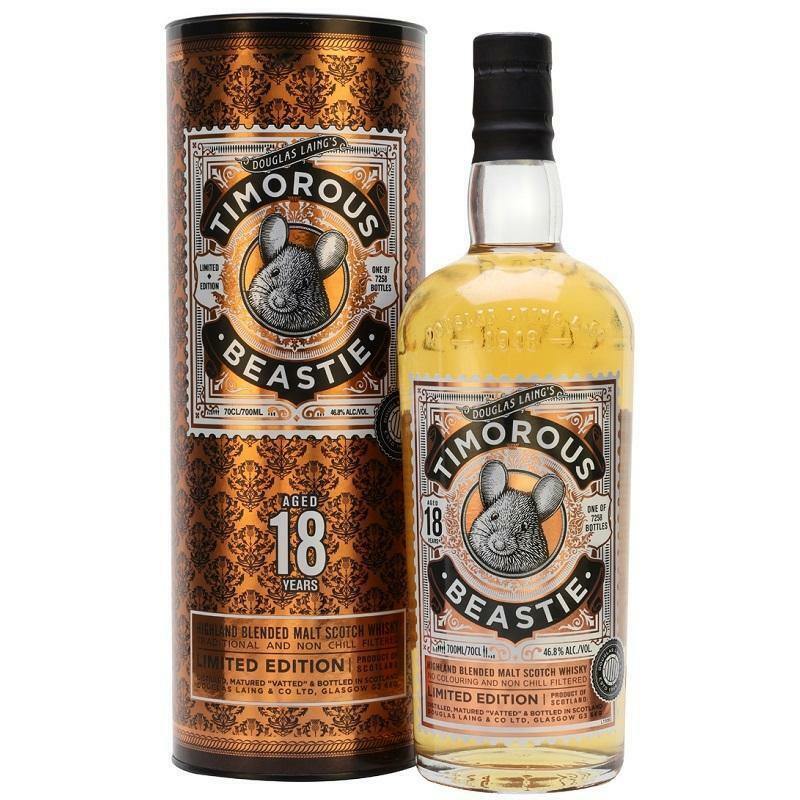 douglas laing's douglas laing's timorous beastie blended malt scotch whisky limited edition 70 cl