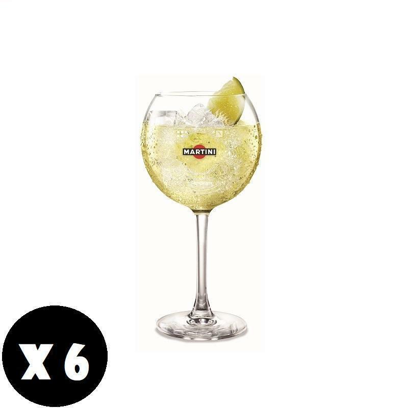 martini bicchieri in vetro tonic martini originali 6 pz