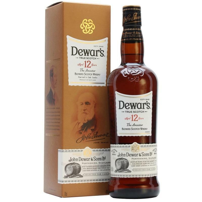 dewar's dewar's age 12 years blended scotch whisky married in oak cascks 70 cl in astuccio